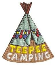 S2177 - Teepee Camping Fun Patch  If we get to TeePee camp at Indian Echo!!