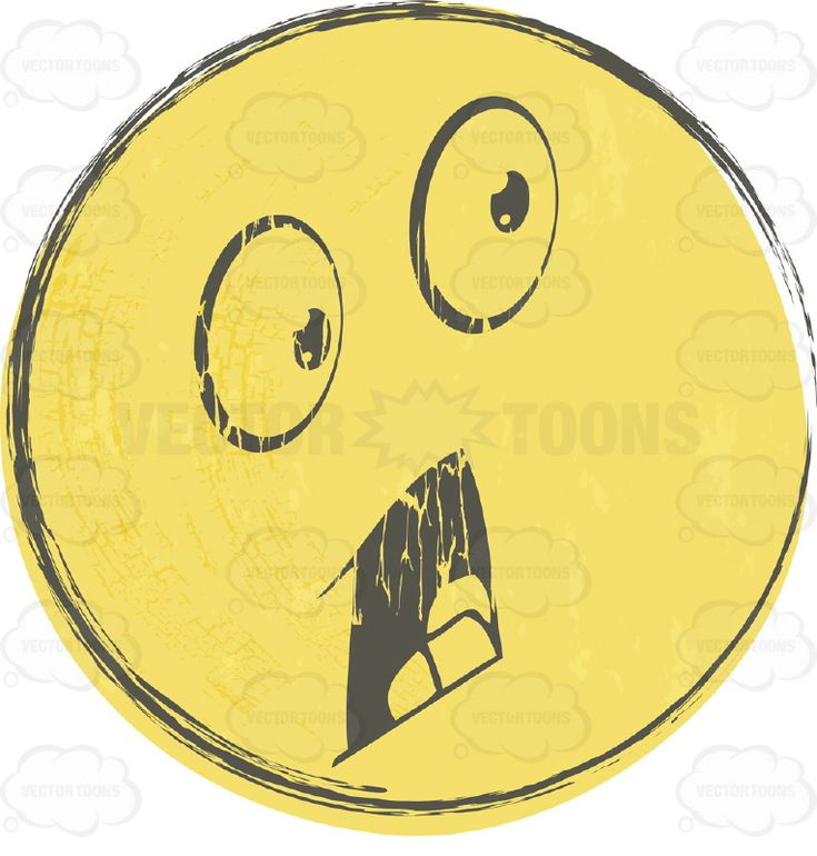 Panicked Faded Yellow Distressed Smiley Face Emoticon, Open Mouth, Huge Eyes #afraid #aghast #anxious #computer #damaged #distressed #emotion #expression #eyes #face #faded #fear #feeling #grainy #grunge #icon #mood #mouth #panicked #PDF #rough #rustic #scared #smiley #startled #teeth #terrified #terror #textured #vector-graphics #vectors #vectortoons #vectortoons.com #worn