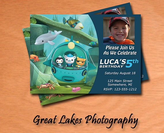 Personalized Octonauts Photo Birthday Card - Digital File