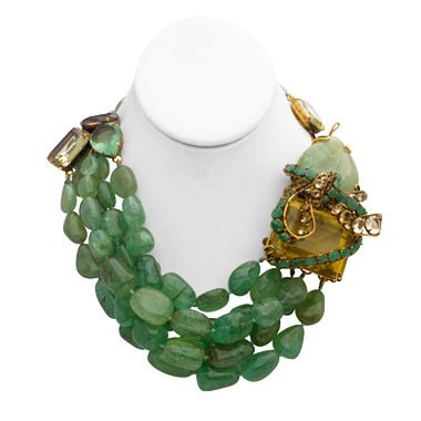 Iradj Moini Emerald necklace. Love this designer who was a former couture designer for Oscar de la Renta