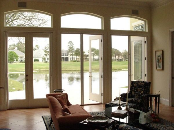 3 outswing french doors retractable