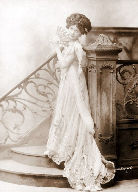 silent film actress & Titanic survivor Dorothy Gibson/made a movie about the Titanic and wore the same dress she wore that night