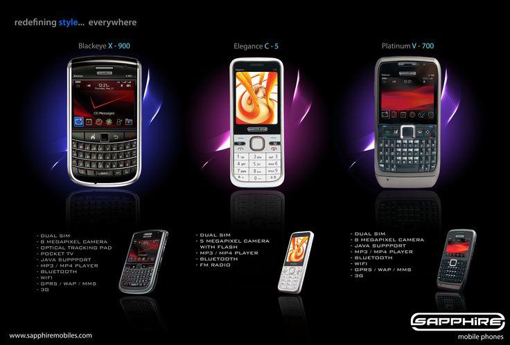 Brand Identity - Sapphire Mobiles  Poster