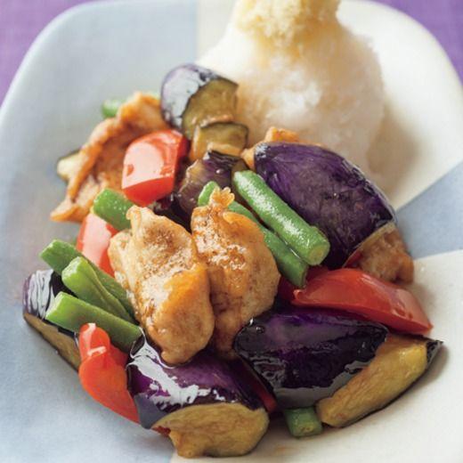 夏野菜ととりのたっぷりおろし添え