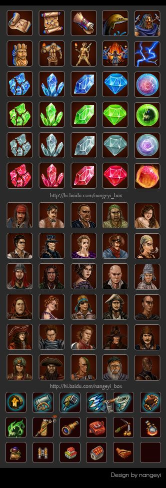 game icons and interface by ~nangeyi on deviantART
