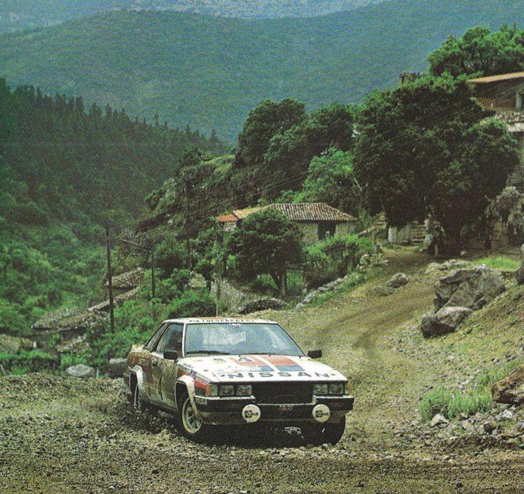 Timo Salonen - Seppo Harjanne 29th Acropolis Rally 1982 (Nissan Violet GTS)