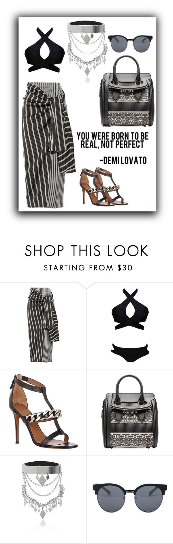 """Untitled #350"" by syanindhtdonner ❤ liked on Polyvore featuring Joseph, Givenchy, Alexander McQueen, River Island and Quay"