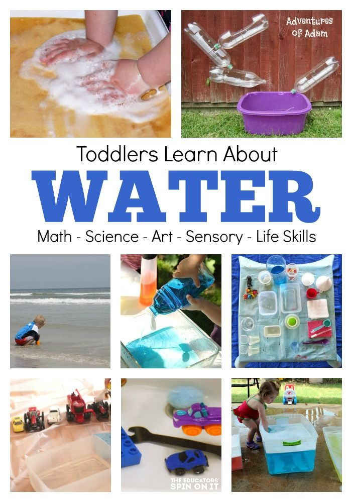 Water Lesson Plan for Toddlers: Art, Science, Math, Sensory, Life Skills and MORE!  Must read and do!!!