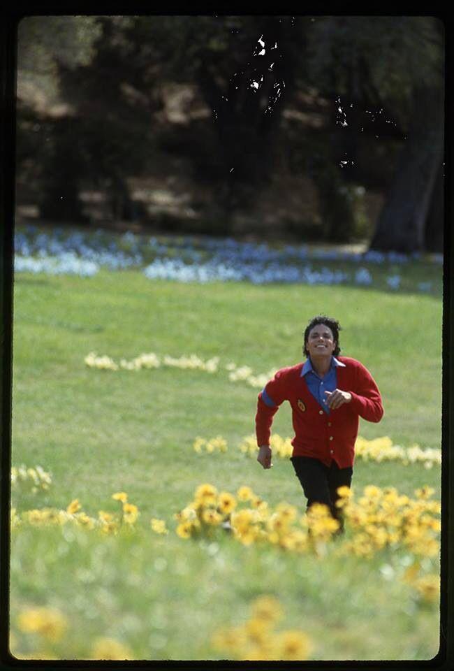 Running in the meadows in 'Moonwalker' 1988