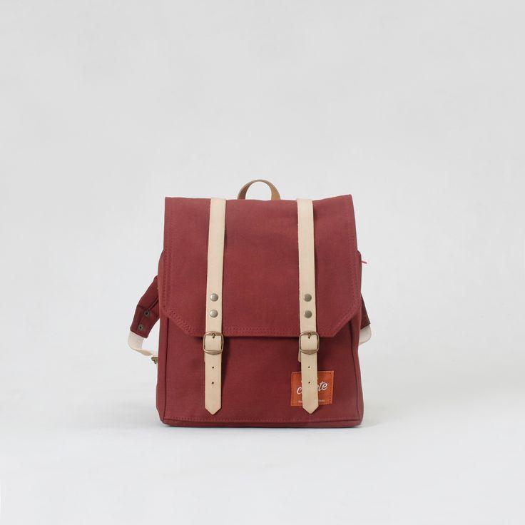 Mini Rucksack. Burgundy. 2015 Collection.