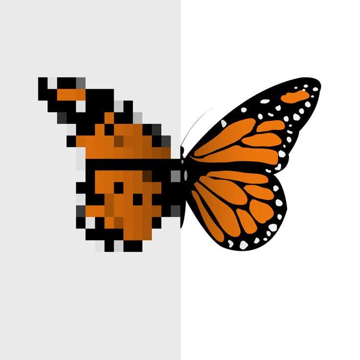 Borboleta pixelada|A-R-T