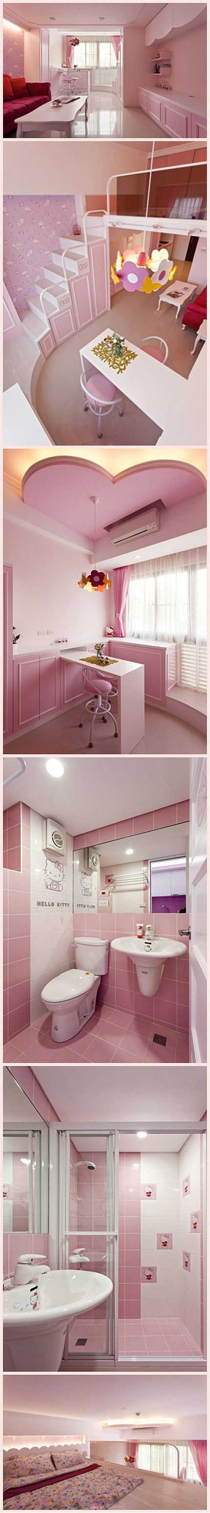 Duplex Hello Kitty nido I don't even like pink like that but I would totally live here!