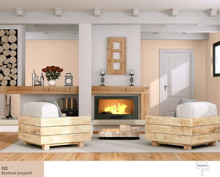 Salon wstylu rustykalnym -meble zdrewnianych belek