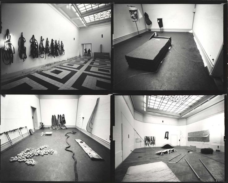 Installation images of the exhibition Live in your head: When Attitudes Become Form at the Kunsthalle Bern in 1969.