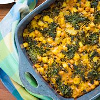 FatFree Vegan Kitchen: Healthy Hash Brown Casserole [With Kale]
