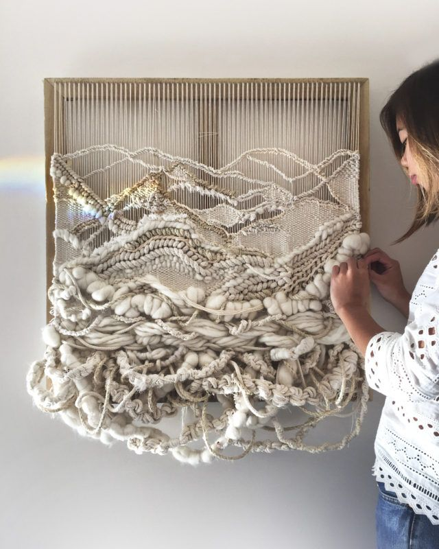 Amazing woven wall hangings by Sydney sisters Crossing Threads - The Interiors Addict