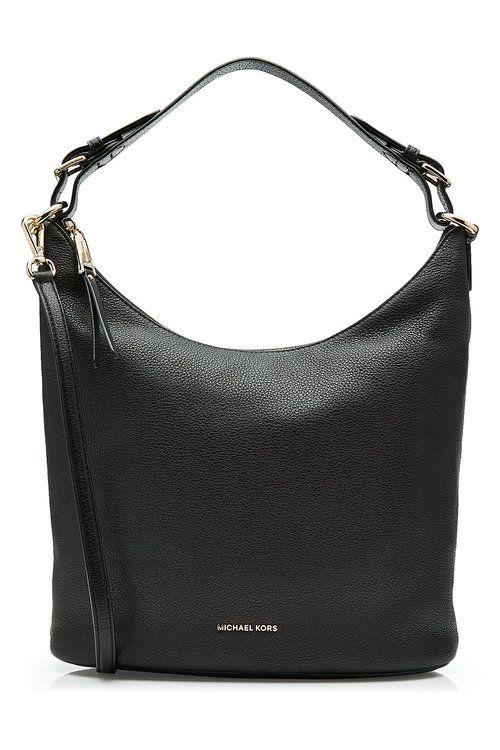 MICHAEL MICHAEL KORS Leather Hobo Bag. #michaelmichaelkors #bags #shoulder bags #leather #hobo #