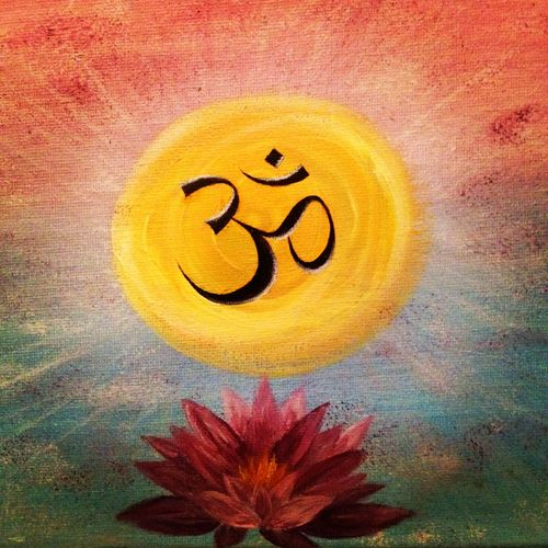 """Om represents the entire universe -- past, present, and future. The sound is actually a combination of four parts: a (""""ah""""), or wakefulness; u (""""oh""""), the dream state; m (""""mmm""""), the quietness of deep, dreamless sleep; and the silence that follows, which represents pure consciousness."""