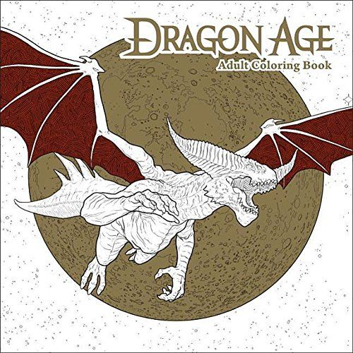 Dragon Age Adult Coloring Book  The beautiful worlds of Dragon Age are yours to explore in this amazing new coloring book, including forty-five fantastic original black-and-white illustrations of unforgettable characters and iconic scenes from the entire award-winning trilogy–each specifically crafted to be colored in any way that you choose! Thrill to the exploits of Alistair, Morrigan, Varric, and the rest, and adventure alongside them on your own journey of creativity! Whether you..