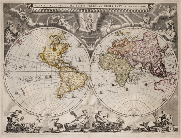 Nova et accuratissima totius terrarum orbis tabula, [New and very accurate chart of the world], 1664?  / Joan Blaeu. [Amsterdam] : Joan Blaeu, [1664?].    Find more detailed information about this map:  http://library.sl.nsw.gov.au/record=b2059969  Search the collections of the State Library of New South Wales www.sl.nsw.gov.au