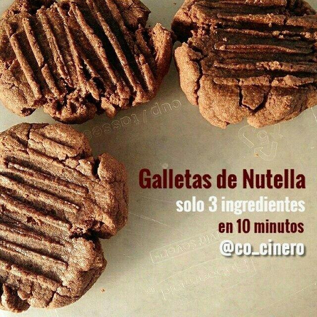 Receta de Galletas de Nutella facil, receta con nutella, galleta de chocolate, galletas fáciles, galletas caseras, galletas rusticas