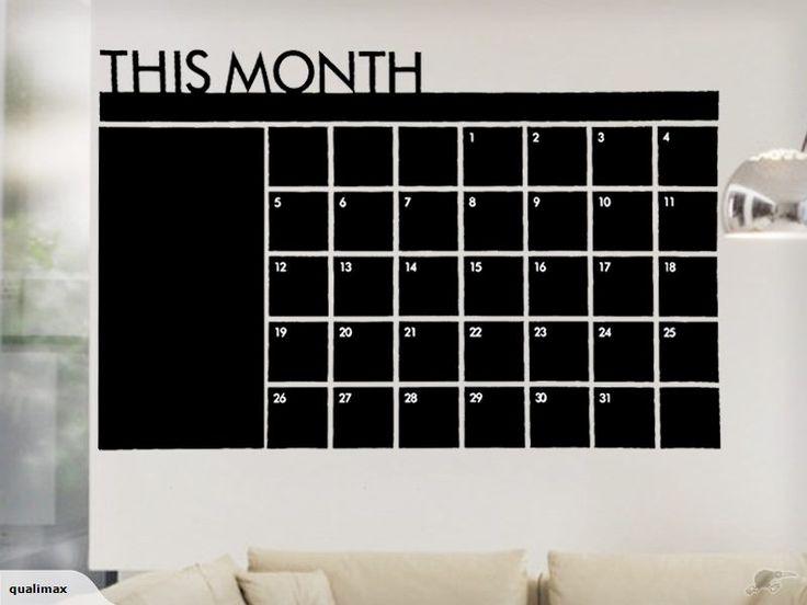 DIY Monthly Chalkboard Calendar Decal | Trade Me
