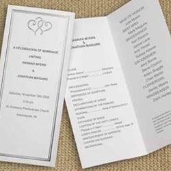 Tri Fold Wedding Program Layout