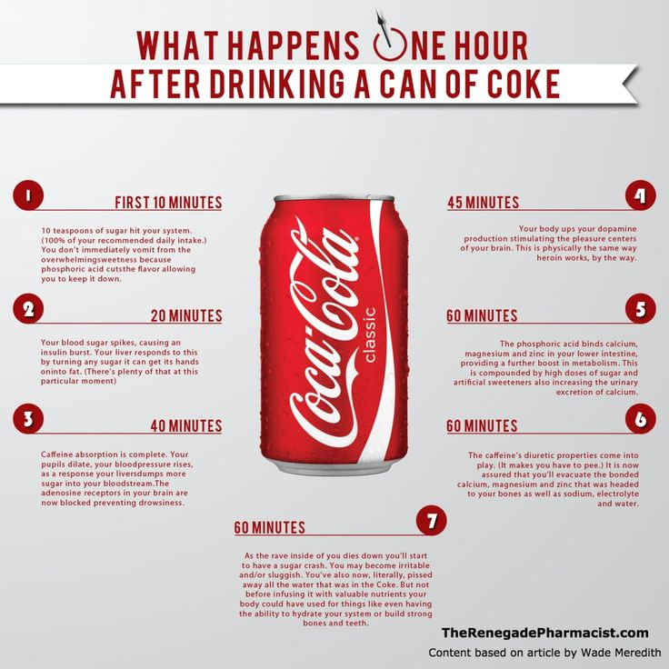What Happens In Your Body One Hour After Drinking A Can Of Coke	►►	http://herbs-info.com/blog/what-happens-in-your-body-one-hour-after-drinking-a-can-of-coke/?i=p