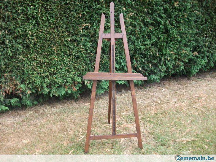 ancien chevalet,support ,cimaise pour peintre ,tableau