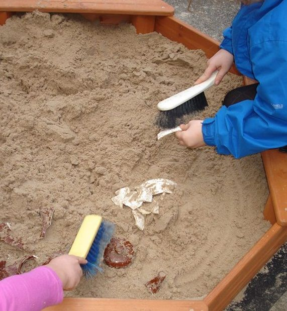 An easy and fun spring/summer activity - playing archaeologists in the sand pit!