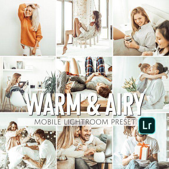 Mobile Lightroom Preset / Warm & Airy Everyday Mobile Preset