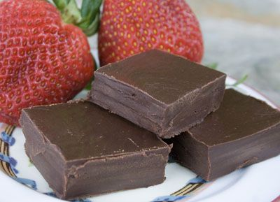 Chocolate Coffee Fudge. Vegetarian and uses only 3 ingredients!