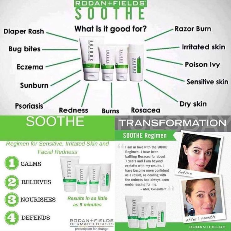 """""""Sooth"""" helps many different skin concerns and should be in every house  Safe and effective for anyone  #beautifulskin #sensitiveskin #soothing #rodanandfields #calm #eczema #sunburn #psoriasis #dryskin #rosacea #diaperrash #bugbites #rashes #antiaging #relief #burns #nurses #moms #dads #babies #poisonivy #razorburn #irritatedskin #dontbesosensitive"""