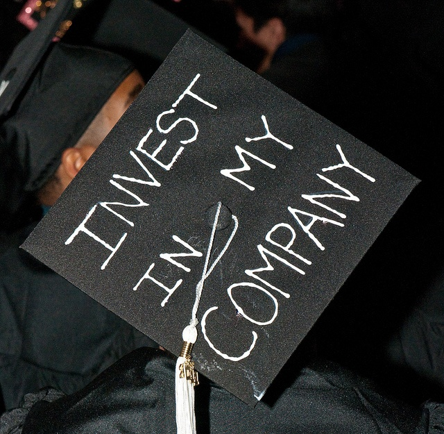 FIDM 2011 Graduation - Decorated Mortar Boards - Staples Center, Los Angeles, California by FIDM, via Flickr: The Angel, Photo