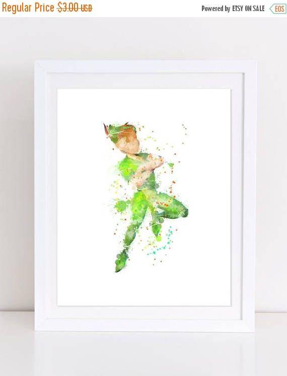 60%OFF Peter Pan Watercolor Poster disney poster disney