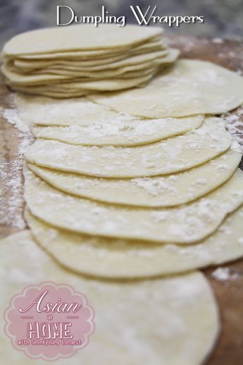 How to Make Dumpling Wrappers They're actually really easy to make and don't have too many ingredients!