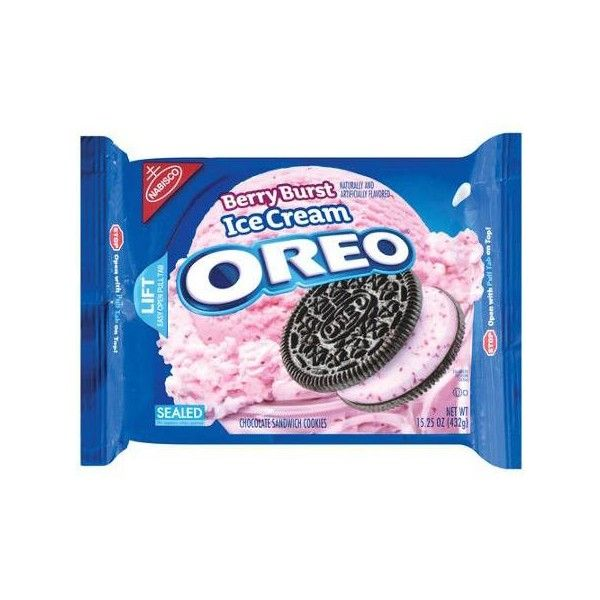 Nabisco Oreo BerryBurst Ice Cream Chocolate Sandwich Cookies, 15.25 oz... ($2.98) ❤ liked on Polyvore