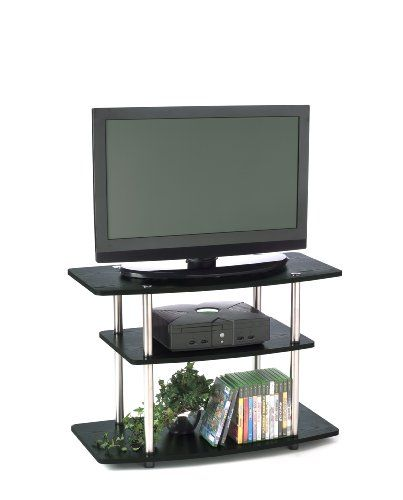 Convenience Concepts 131020 3-Tier TV Stand for Flat Panel TV's up to 32-Inch or 80-Pound, Black - https://twitter.com/donrzn/status/592204283786866689