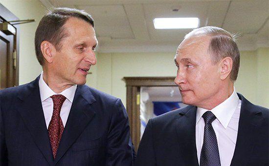 Путин назвал назначение Нарышкина в СВР возвращением домой - РБК