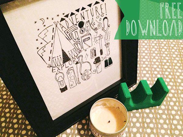 10 imprimibles gratis para decorar las paredes de la habitación de los peques. Láminas y banderines para descargar e imprimir gratis.