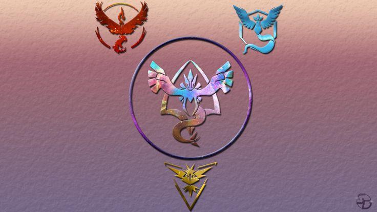 Vídeo Game Pokemon GO  Pokémon Team Mystic Team Valor Team Instinct Team Harmony Lugia (Pokemon) Moltres (Pokemon) Zapdos (Pokemon) Articuno (Pokémon) Papel de Parede