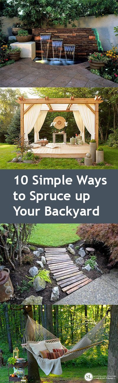 10 Simple Ways to Spruce up Your Backyard
