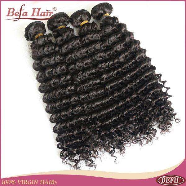 Розничная перуанский девственные волосы курчавые вьющиеся волосы befa продукты 1 шт. продукты волос выдвижение человеческих волос бесплатно линять быстрая доставка