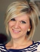 Simple Short Hairstyles for Women - Formal Straight Bob with Side Bangs