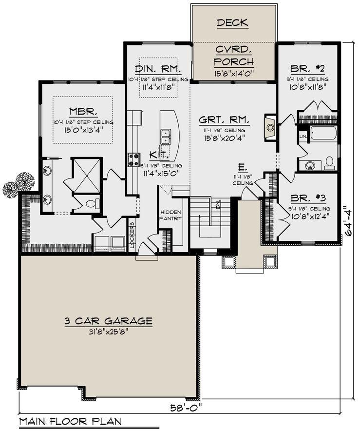 House Plan 1020 00329 Ranch Plan 1 837 Square Feet 3