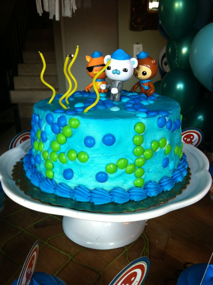 Octonauts Cake. So easy to do and turned out beautiful