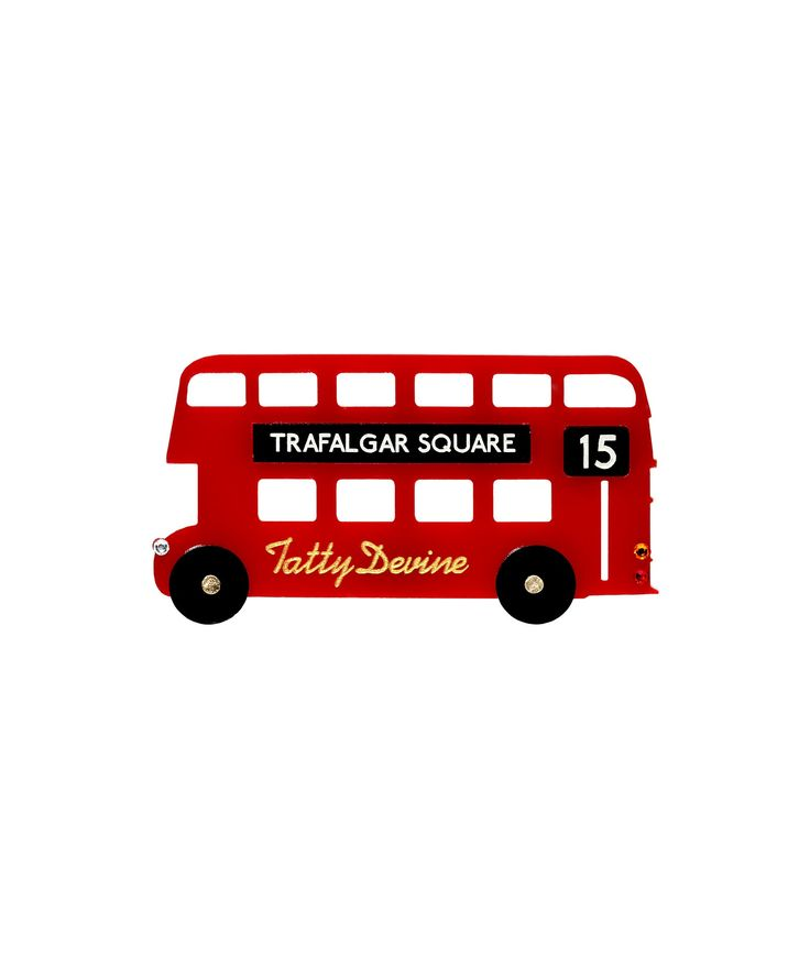Tatty Devine London Bus Brooch