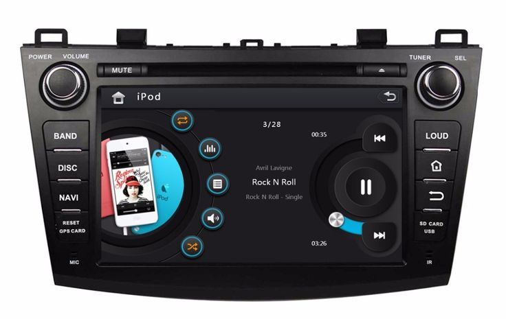 "HD 2 din 8"" Car Radio DVD Player for MAZDA 3 2009 2010 2011 2012 With GPS Navigation Bluetooth IPOD TV SWC USB AUX IN"