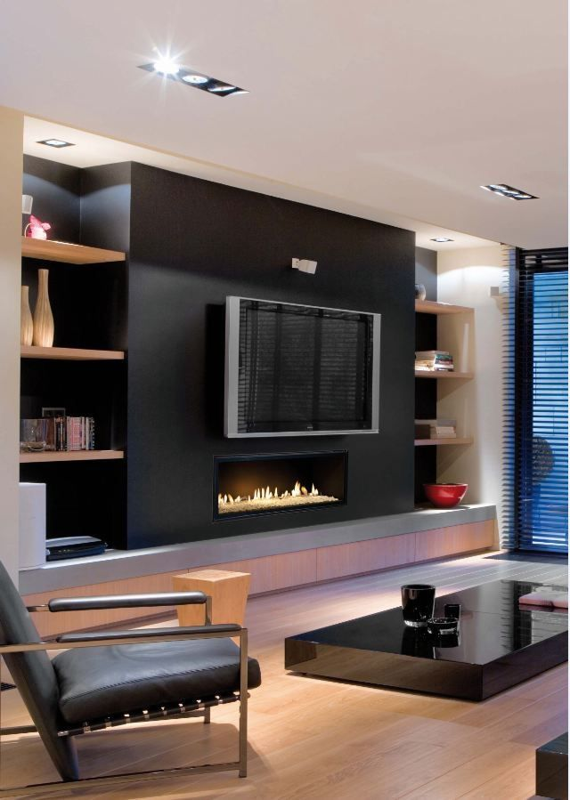 Pin By Dossie Maher On Home Sweet Home Elegant Living Room Dark Living Rooms Fireplace Feature Wall