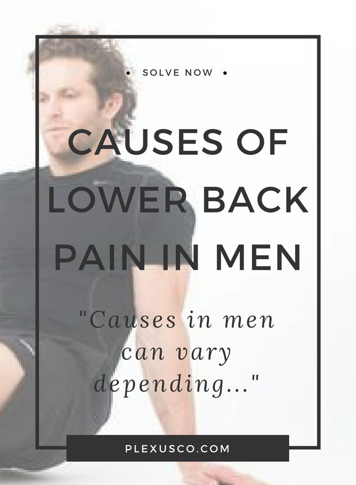 lower back pain in men | lower back relief | causes of back pain